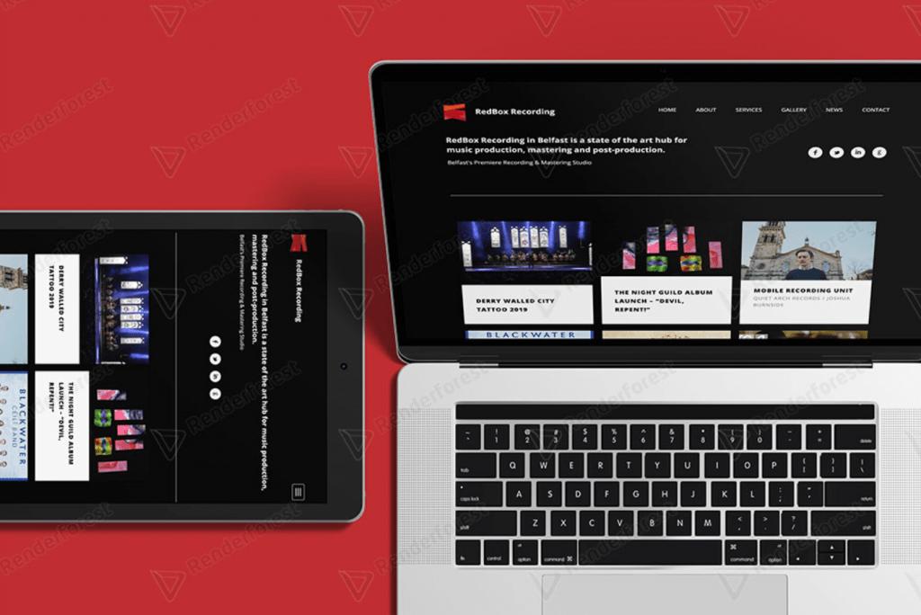 RedBox Recording Studio website design