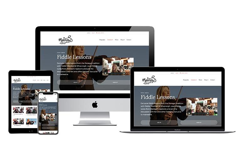 Fiddle Lessons website for Mairéad Ní Mhaonaigh by Raya Design