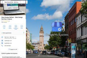 Raya Design Belfast listing on Google My Business