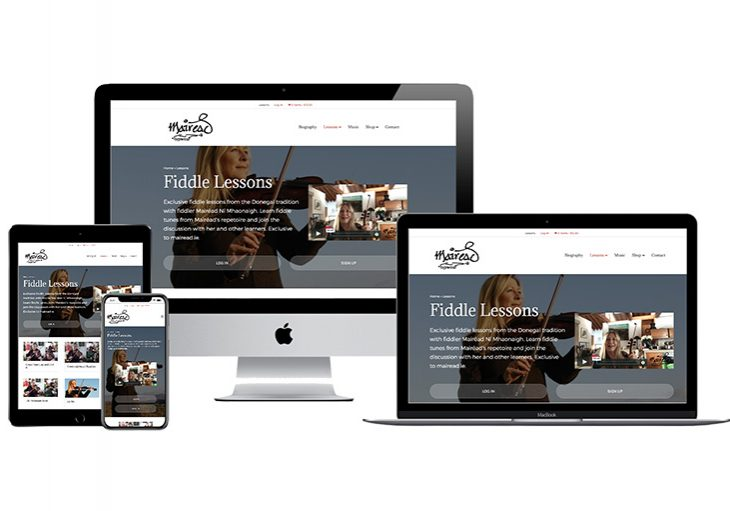 Fiddle Lessons website-for-Mairéad-Ní-Mhaonaigh by Raya Design